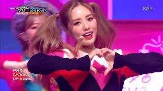 뮤직뱅크 Music Bank Love Bomb 프로미스나인 Fromis 9 20181012