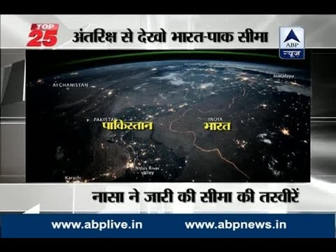 Have a look at Indo-Pak International border from space