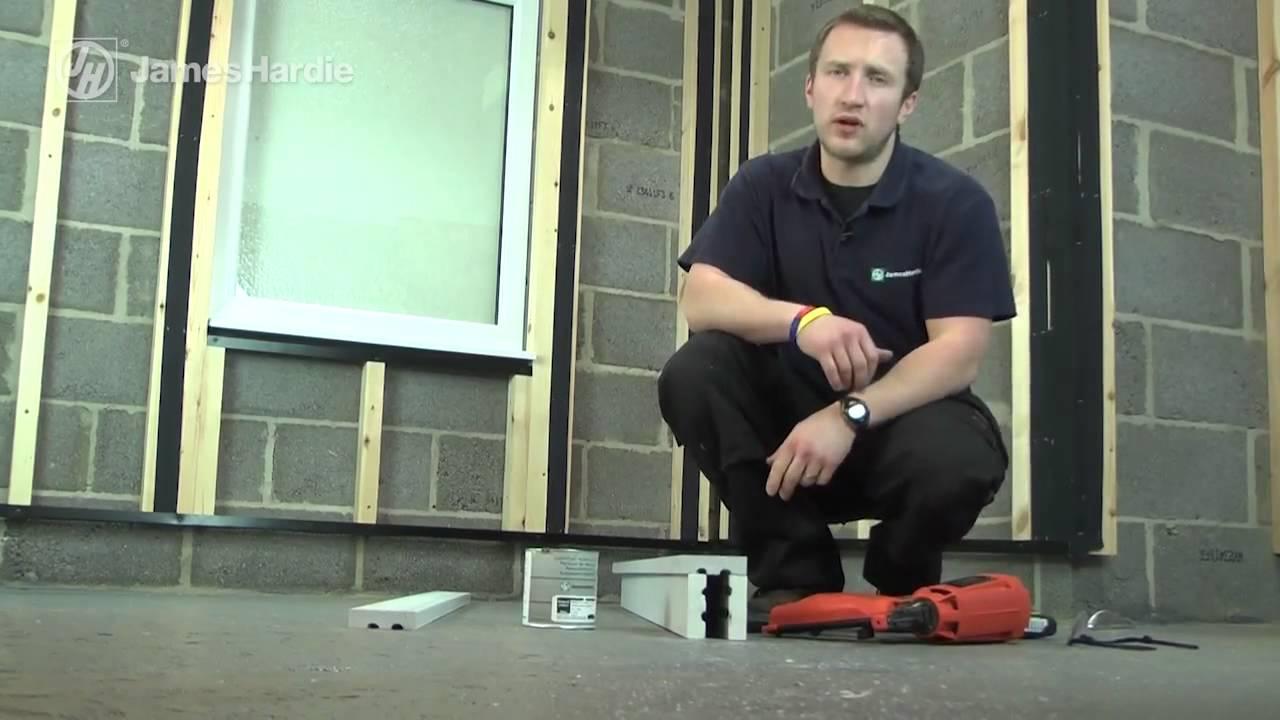 James Hardie Hardieplank 174 Cladding Installation Video Youtube