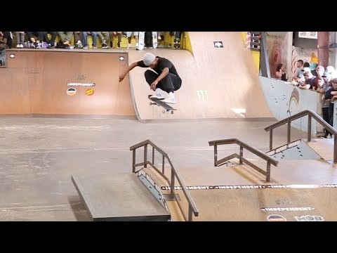 MARIO MCCOY INSANE LATE FRONTSIDE FLIP DURING TAMPA PRO 2020 LIVECAST COMMERCIAL BREAK