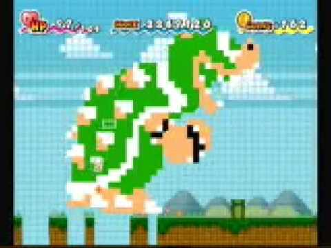 Super Paper Mario: All 8-bit Transformations