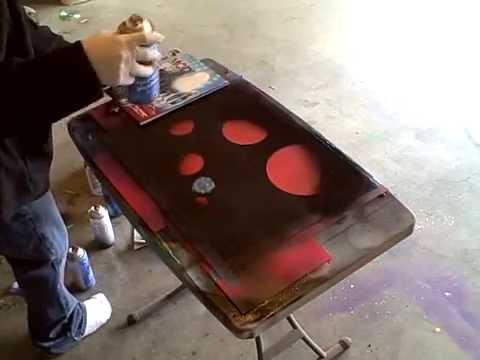 (Reverse) Spray Paint Art on Glass