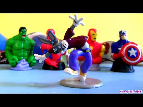 Spiderman Toy Surprise Kinder Egg Bugs Bunny, Angry Birds, Spider-man Marvel Captain America