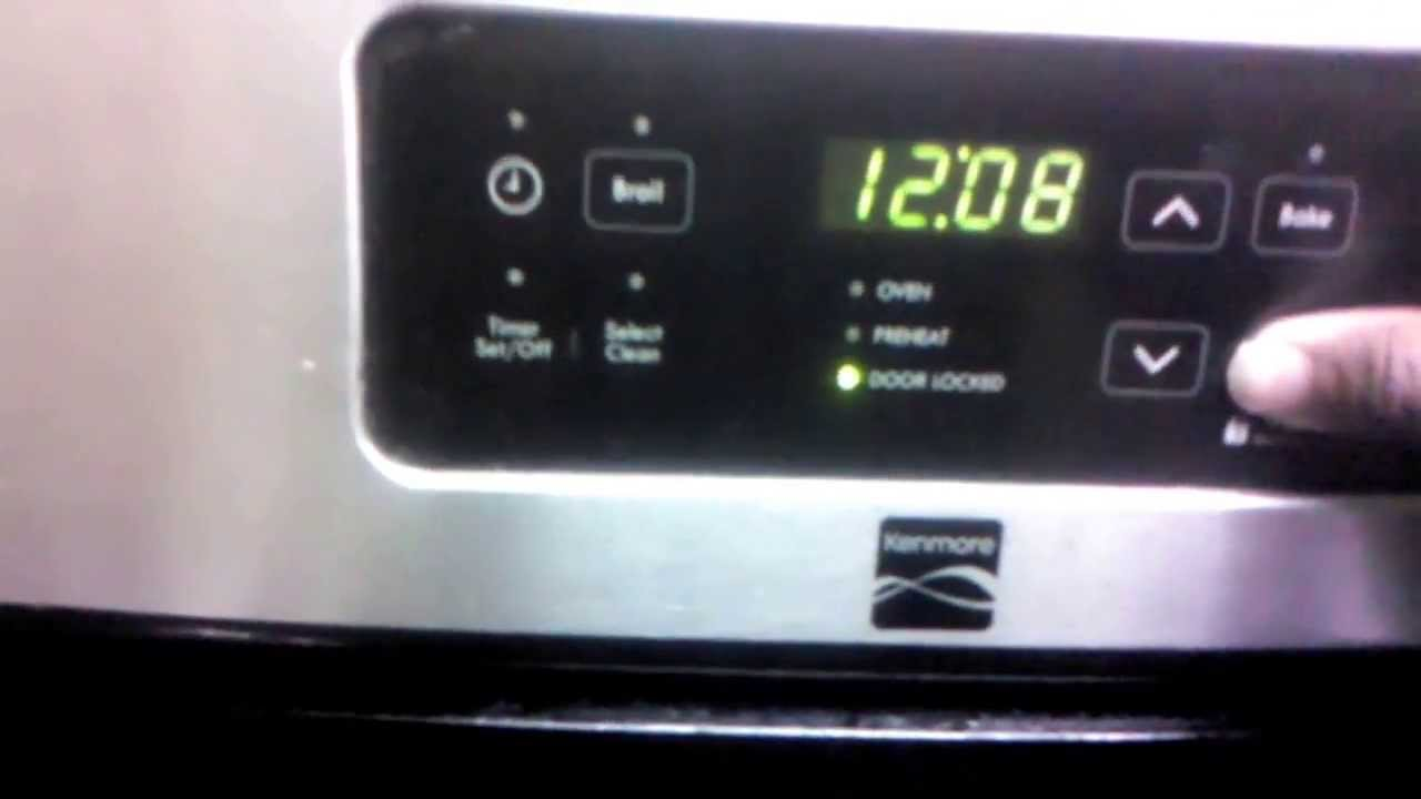 How To Unlock Kenmore Oven Youtube