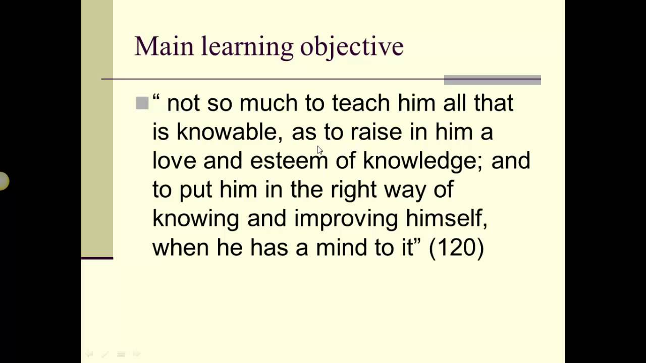 Some Thoughts Concerning Education Locke s Some Thoughts