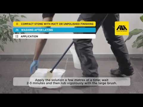 How to clean porphyry and protect it from water and stains | D.I.Y. application (en)