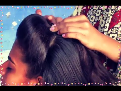 Simlpe Front Puff Hairstyle Under 2 Minutes Youtube
