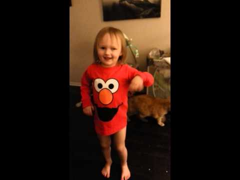 Three Year Old Sings The Chicken Dance video