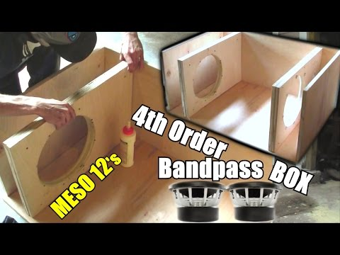 Building a Bandpass Subwoofer Box   4th Order Sub Enclosure Build / 2:1 Ratio / 2 Sealed 4 Ported