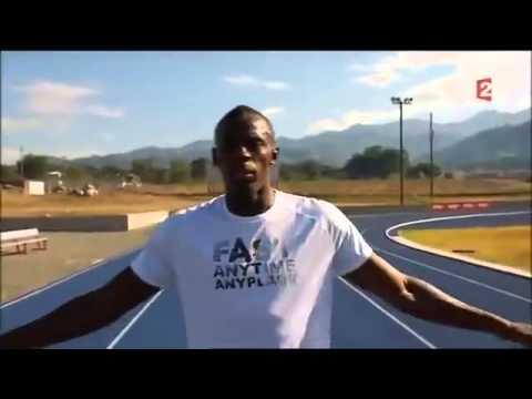 Usain Bolt l'homme le plus rapide du monde, explique son 100M