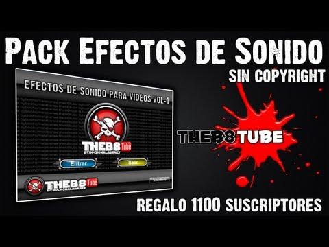 Pack de Efectos de Sonido, 514 Sonidos Increibles Sin Copyright!!!.