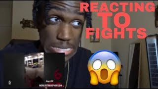 REACTING TO FIGHTS!! 😱😂