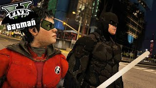 Batman And Robin! The Dark Knight Falls! (GTA 5 Batman Mod)