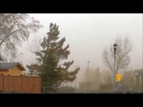 May 12 2013 Storm Moving In (with sound) Northern Alberta Canada