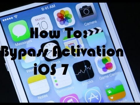 iOS 7.2 - No Developer Account - How to Bypass Activation to Main Screen