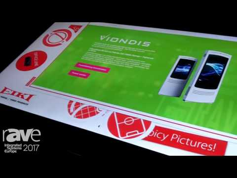 ISE 2017: Eiki Presents Viondis Touch Screen Display – in German