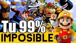 Me pasó un Epic Fail al Final denuevo! - 99% Imposible de Suscriptores#4  Super Mario Maker  ZetaSSJ