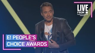 Robert Downey Jr. Dedicates People's Choice Win to Stan Lee | E! People's Choice Awards