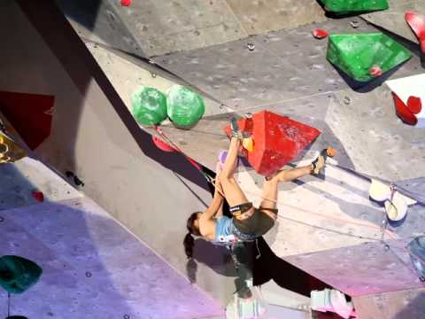World Cup Inzai 2012 Lead-Climbing Woman Final ( Akiyo Noguchi )
