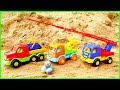 Машинки на пляже Песочница для малышей серии подряд Развивашки mp3