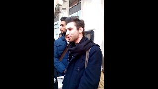 Mattias Plot au piano et Lukas K Abdul au chant - Improvisation - Gare Saint-Lazare - 20 mars 2015