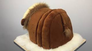 lion shape dog bed,cute pet bed,animal's lovely furniture