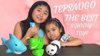 TEPSMIGO LARGE SQUISHY TOYS   Dinosaur  Shark & Panda | BEST SQUISHY SLOW RISING TOYS