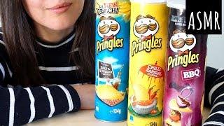 ASMR Eating Sounds: Three Kinds of Pringles   Crunchy (No Talking)