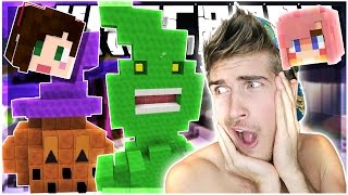 GHOSTS AND HALLOWEEN!! | BUILD BATTLE w/ STACY,  AND LIZZIE! | Minecraft