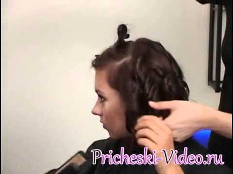 как завить волосы утюжком видео