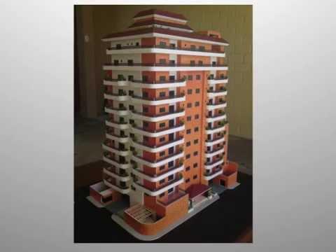 Maqueta guatemala edificio de apartamentos escala 1 75 for Maquetas de apartamentos modernos