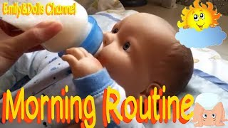 Reborn Baby Marcus Morning Routine🌞 (Reborn Baby Doll Style🍼)(Feeding and Changing)