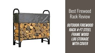Log Storage Review - Outdoor Firewood Rack Steel Frame Wood Log Storage with Cover