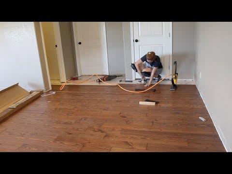 First Time Laying Hardwood Flooring