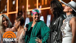 Alicia Keys Miley Cyrus Dolly Parton And More Take The Grammys 2019 Stage Today