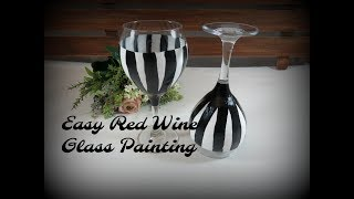 Easy Red Wine Glass Painting Part 1 | Relaxing Painting | Step by Step | Aressa | 2019