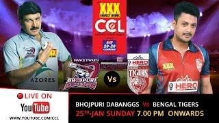 CCL 5 LIVE : Bhojpuri Dabanggs V/s Bengal tigers