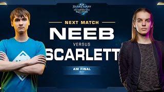 Neeb vs Scarlett PvZ - Final - WCS Challenger NA Season 2