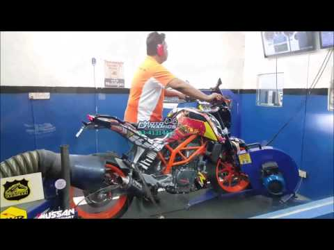 KTM Duke 250 PowerTRONIC ECU Dyno Tuning 180km++ - Motodynamics Technology Malaysia
