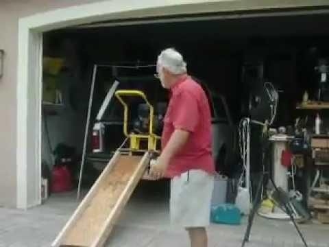loading ramps truck lifting load tool ramp plywood trucks minivan heavy diy winch pressure stuff storage washer using organizing sled