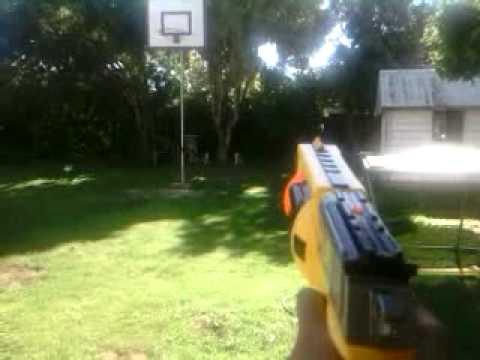 Nerf Maverick Review/Shooting Range/Air Restrictor mod.