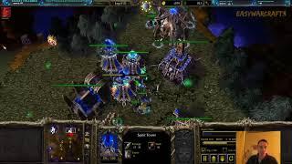 Warcraft 3 1v1 Lordaeron #1 - Dreadlord and Naga in Undead Mirror
