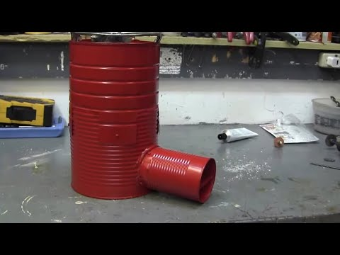 coffee can rocket stove(2/2)