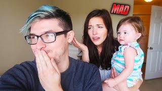 🤣IGNORING MY GIRLFRIEND AND BABY FOR 24 HOURS PRANK! *THEY GOT MAD*😒