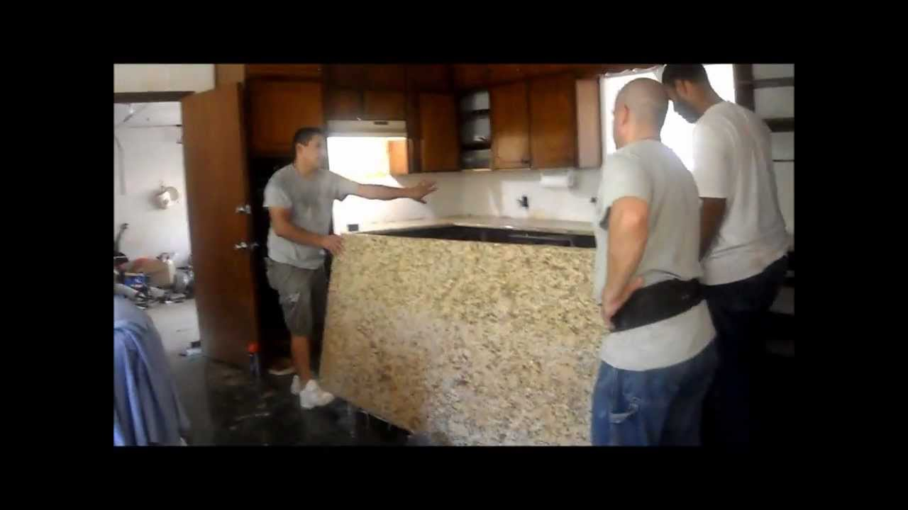 ... Kitchen Remodel Part III - Granite Countertop Installation - YouTube
