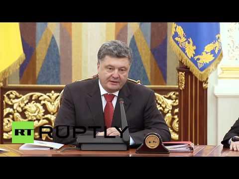 Ukraine: Poroshenko calls Donbass elections 'farcical'