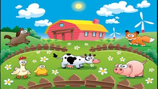 Farm Animal 2 activity and song for children full Educational video for babies and toddlers