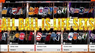 OPENING ALL BALL IS LIFE GOLD+ PLAYERS SETS! SEARCH FOR ELITES! NBA LIVE MOBILE 18!