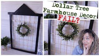 Dollar Tree DIY Farmhouse Wall Decor
