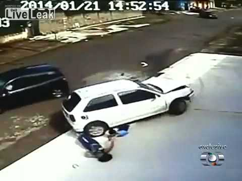 God Is Wonderful : Boy And His Mom Get Hit By A Car video